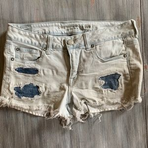 American Eagle denim patch shorts. Never worn